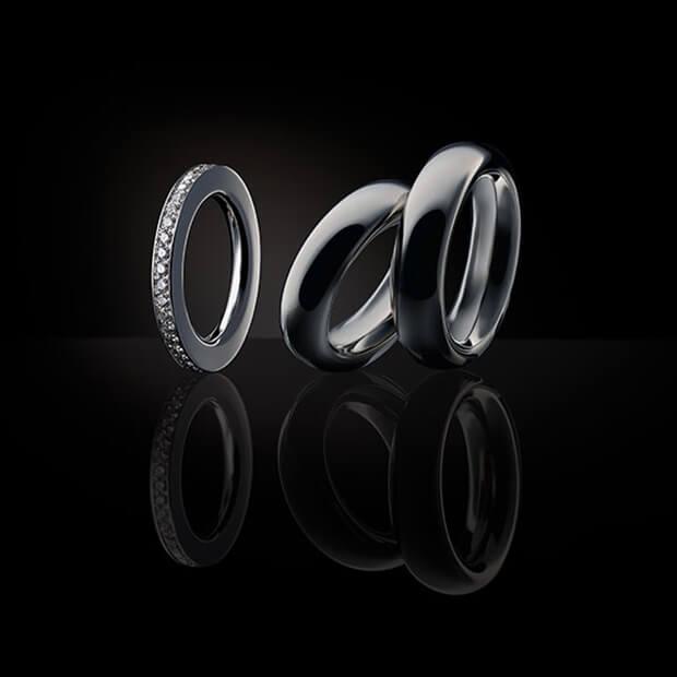 Unsere Ringe in 750 Weißgold mit Brillanten und Vorsteckring